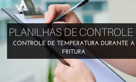 Controle de temperatura durante a fritura