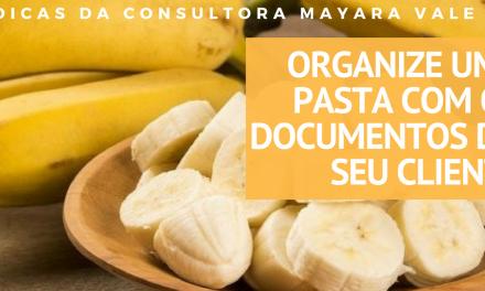 Organize uma pasta com os documentos do seu cliente